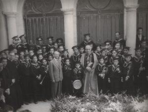 1950-Cardinale Ascalesi in visita all'Orfanotrofio