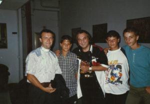 1997-Tullio De Piscopo con i ragazzi Antoniani
