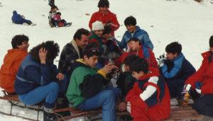 1985-Gita sulla neve al Lago Laceno