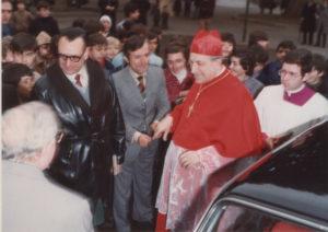 1982-Il Cardinale Ursi benedice l'inizio lavori della Chiesa