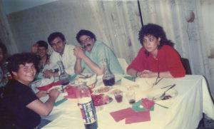 1989-Pranzo con alunni ed insegnanti
