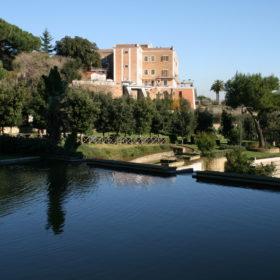 Istituto Antoniano veduta dal lago del Parco del Poggio